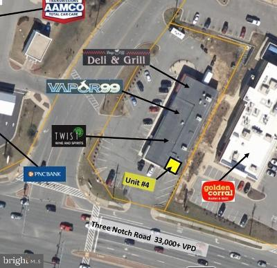 Saint Marys County Commercial Lease For Lease: 22608 Three Notch Road #4
