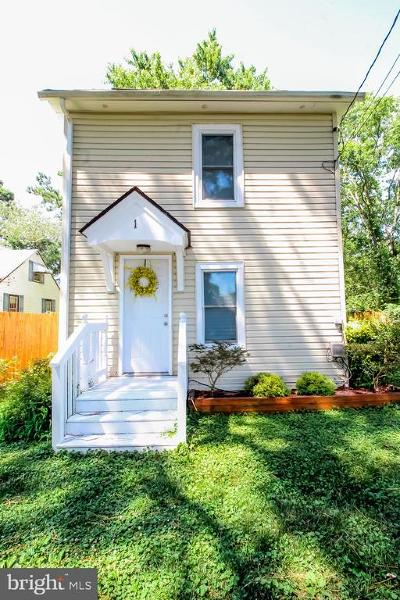 Crisfield Single Family Home For Sale: 1 Myrtle Lane