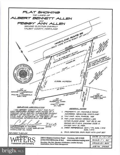 Talbot County Residential Lots & Land For Sale: Saint Michaels Road