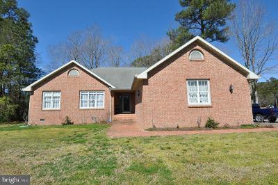 Pocomoke City Single Family Home For Sale: 2121 Orchard Drive