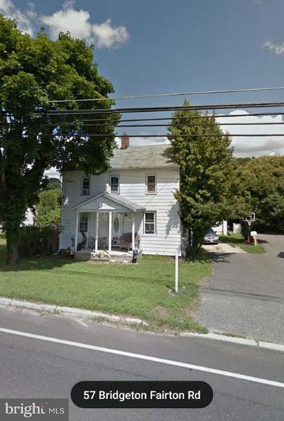 Cumberland County Single Family Home For Sale: 57 Bridgeton Fairton Road