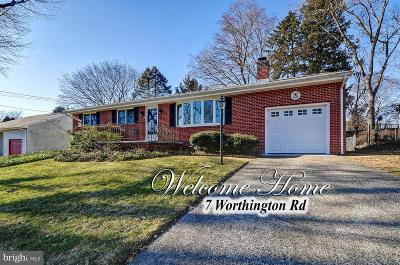 Ewing Single Family Home For Sale: 7 Worthington Drive