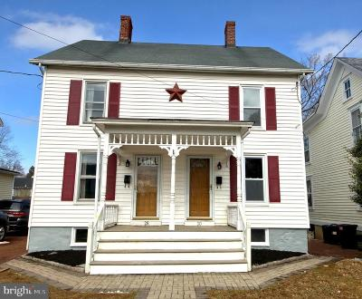 Hopewell Single Family Home Active Under Contract: 28-30 Columbia Avenue