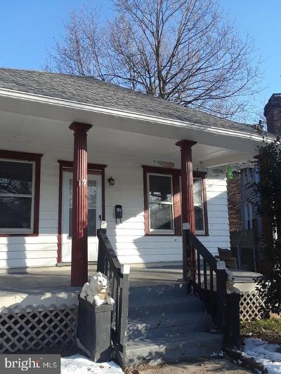 Trenton NJ Single Family Home For Sale: $89,000