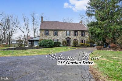 Bucks County Single Family Home For Sale: 753 Gordon Drive
