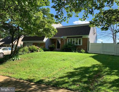 Bensalem Single Family Home For Sale: 3443 Mansion Drive