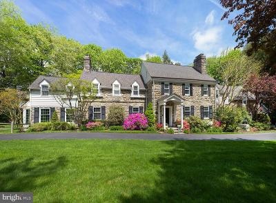 Bryn Mawr Single Family Home For Sale: 630 Black Rock Road
