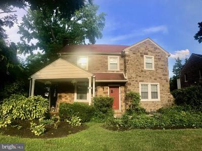 Elkins Park Single Family Home For Sale: 7425 Overhill Road