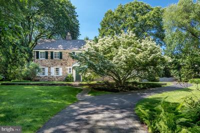Bryn Mawr Single Family Home For Sale: 826 Waverly Road