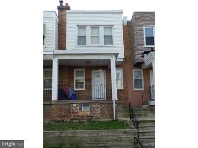 Philadelphia Townhouse For Sale: 4762 Vista Street