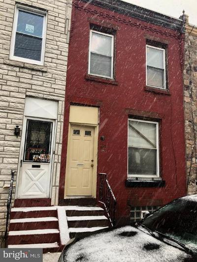 Philadelphia PA Townhouse For Sale: $65,000