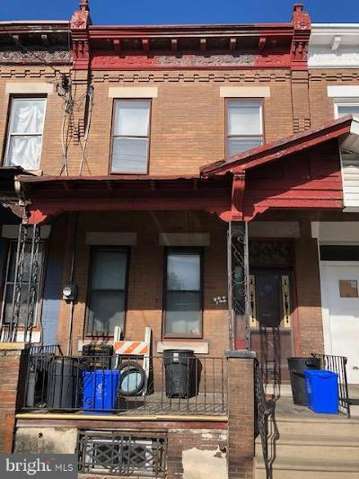 Philadelphia PA Townhouse For Sale: $38,000