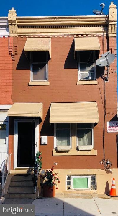 Philadelphia Townhouse For Sale: 255 E Mayfield Street