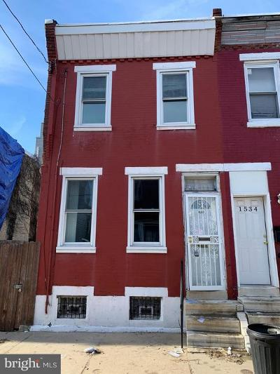 Philadelphia Townhouse For Sale: 1536 S Capitol Street
