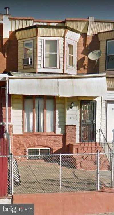 Philadelphia PA Townhouse For Sale: $69,000