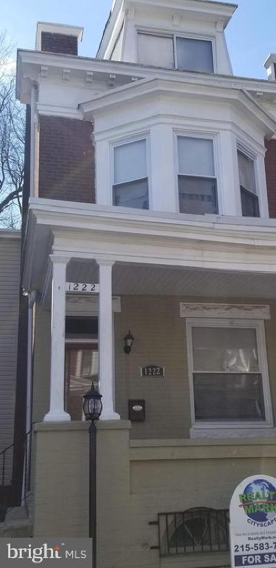 Philadelphia Single Family Home For Sale: 1222 Fillmore Street