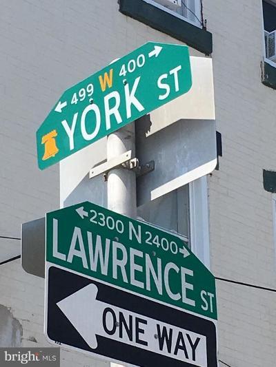 Philadelphia Single Family Home For Sale: 423 W York Street