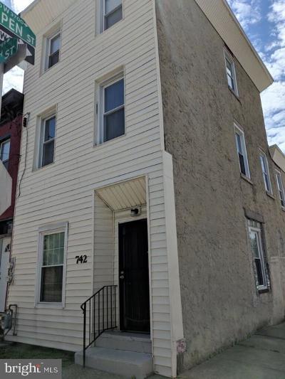 Philadelphia Multi Family Home For Sale: 742 N 37th Street