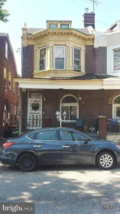 Philadelphia PA Single Family Home For Sale: $140,000