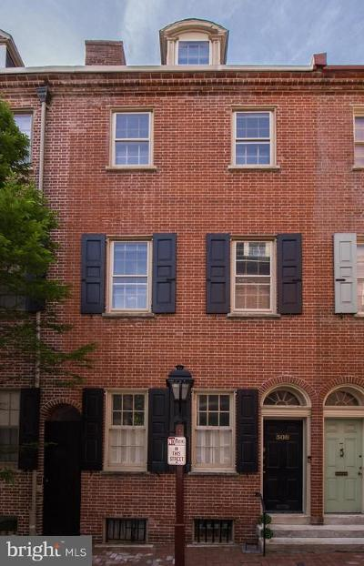 Society Hill Townhouse For Sale: 308 S Philip Street