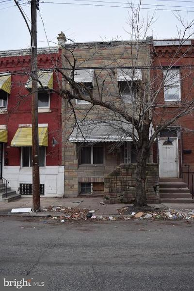Brewerytown Townhouse For Sale: 1844 N 27th Street