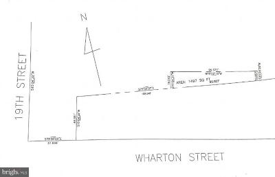 Point Breeze Residential Lots & Land For Sale: 1819 Wharton Street