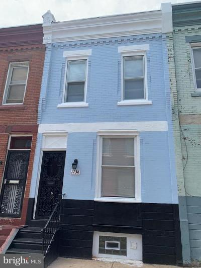 Brewerytown Townhouse For Sale: 1738 N Dover Street