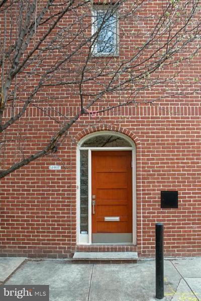 Rittenhouse Square Townhouse For Sale: 2017 Rodman Street