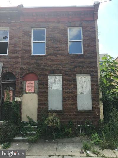 Philadelphia Single Family Home For Sale: 1908 Monument Street