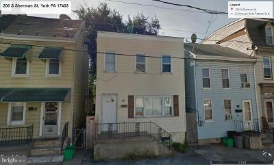 York PA Single Family Home For Sale: $30,000