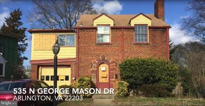 Arlington Single Family Home For Sale: 535 N George Mason Drive