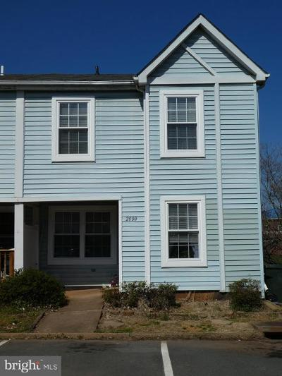 Culpeper County Townhouse For Sale: 2000 Birch