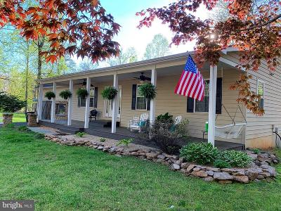 Culpeper County Single Family Home For Sale: 10601 River Road