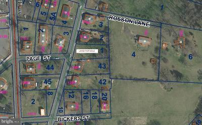 Culpeper County Residential Lots & Land For Sale: South East St
