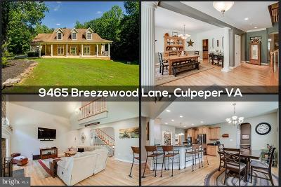 Culpeper County Single Family Home For Sale: 9465 Breezewood Lane