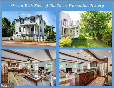 Warrenton Single Family Home For Sale: 102 Winchester Street
