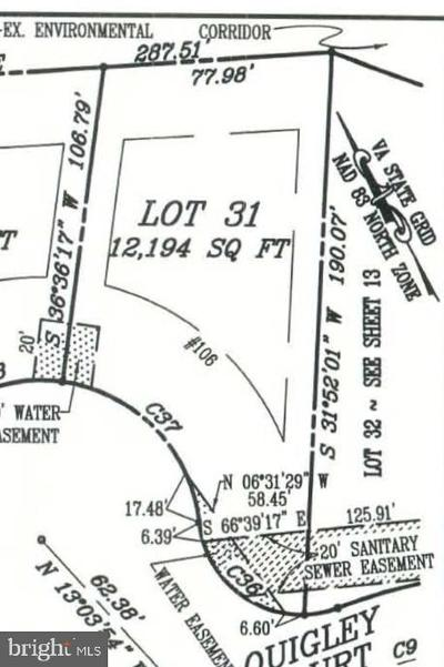 Frederick County Residential Lots & Land For Sale: 106 Mate Court