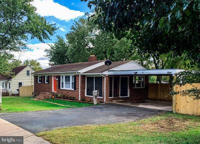Alexandria Single Family Home For Sale: 2821 Memorial Street