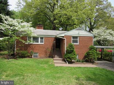 Fairfax County Single Family Home For Sale: 6344 Nicholson Street
