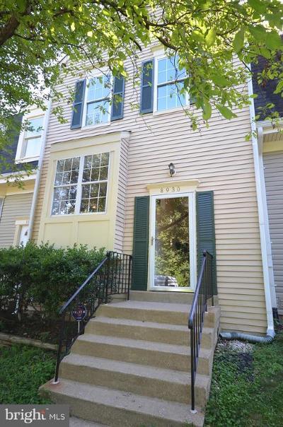 Lorton Townhouse For Sale: 8930 Waites Way