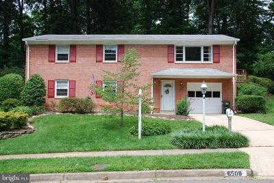 Fairfax County, Fairfax City Single Family Home For Sale: 6508 Rivington Road