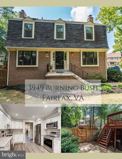 Fairfax Townhouse For Sale: 3949 Burning Bush Court