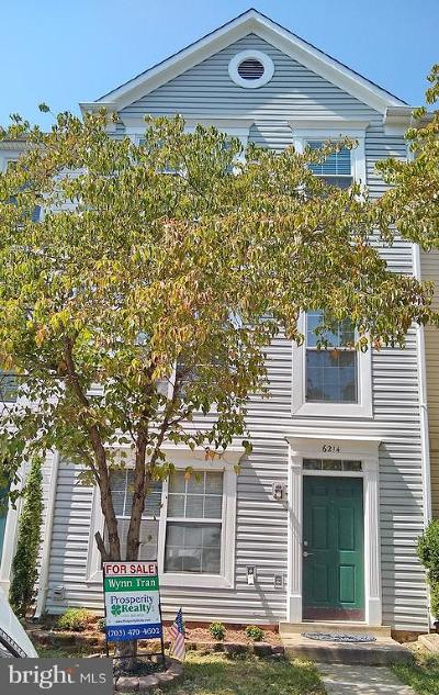 Centreville, Clifton Townhouse For Sale: 6214 William Mosby Drive