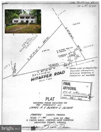 McLean Residential Lots & Land For Sale: 1148 Bellview Road