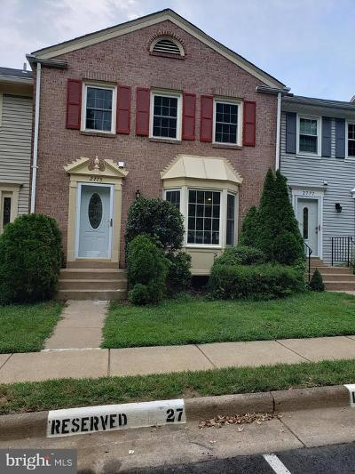 Vienna Townhouse For Sale: 2775 Knollside Lane