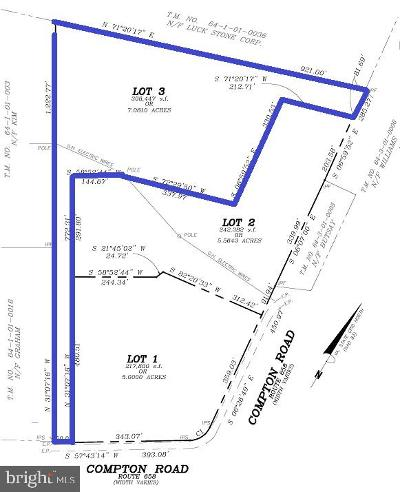 Centreville Residential Lots & Land For Sale: 15580 Compton Road