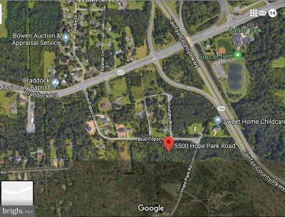 Fairfax Residential Lots & Land Active Under Contract: 5500 Hope Park Road