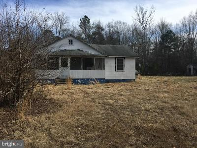 King George VA Single Family Home For Sale: $100,000