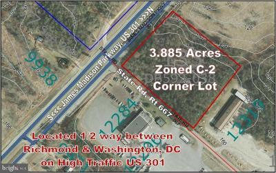 King George Residential Lots & Land For Sale: James Madison Parkway