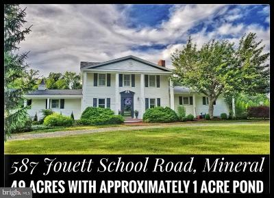 Louisa County Single Family Home For Sale: 587 Jouett School Road